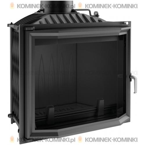 Wkład kominkowy KRATKI FELIX 16 kW pryzmatyczny + dolot - kominek KRATKI
