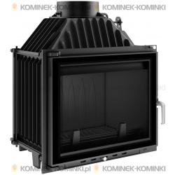 Wkład kominkowy KRATKI MAJA 12 kW GLASS + dolot - kominek KRATKI