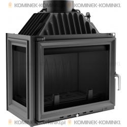 Wkład kominkowy KRATKI MAJA 12 kW lewy + dolot - kominek KRATKI