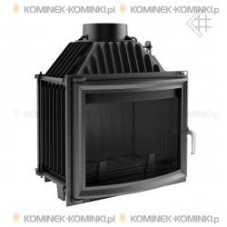 Wkład kominkowy KRATKI MAJA 12 kW panoramiczny + dolot - kominek KRATKI