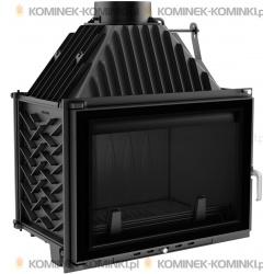 Wkład kominkowy KRATKI OLIWIA 18 kW GLASS + dolot - kominek KRATKI