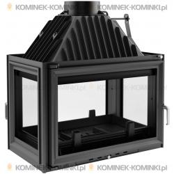 Wkład kominkowy KRATKI OLIWIA 18 kW lewy/prawy/tył + dolot - kominek KRATKI