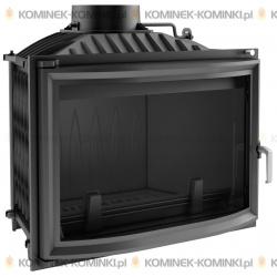 Wkład kominkowy KRATKI WIKTOR 14 kW panoramiczny + dolot - kominek KRATKI