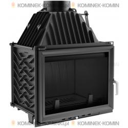 Wkład kominkowy KRATKI ZUZIA 16 kW + dolot - kominek KRATKI