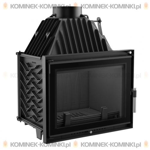 Wkład kominkowy KRATKI ZUZIA 16 kW DECO + dolot - kominek KRATKI
