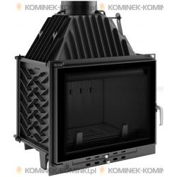 Wkład kominkowy KRATKI ZUZIA 16 kW EKO GLASS + dolot - kominek KRATKI