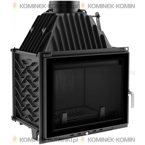 Wkład kominkowy KRATKI ZUZIA 16 kW GLASS + dolot - kominek KRATKI