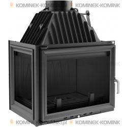 Wkład kominkowy KRATKI ZUZIA 16 kW lewy + dolot - kominek KRATKI