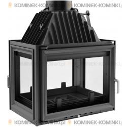 Wkład kominkowy KRATKI ZUZIA 16 kW lewy/prawy/tył + dolot - kominek KRATKI