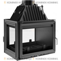 Wkład kominkowy KRATKI ZUZIA 16 kW lewy/tył + dolot - kominek KRATKI