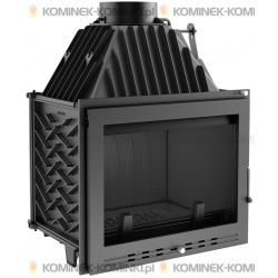Wkład kominkowy KRATKI ZUZIA 16 kW LUX + dolot - kominek KRATKI