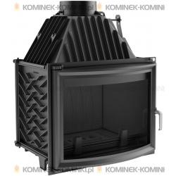 Wkład kominkowy KRATKI ZUZIA 16 kW panoramiczny + dolot - kominek KRATKI