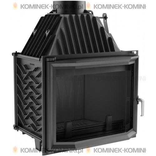 Wkład kominkowy KRATKI ZUZIA 16 kW pryzmatyczny - kominek KRATKI