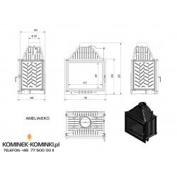 Wkład kominkowy KRATKI AMELIA 18 kW EKO - kominek KRATKI