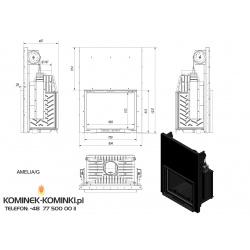 Wkład kominkowy KRATKI AMELIA 25 kW gilotyna - kominek KRATKI