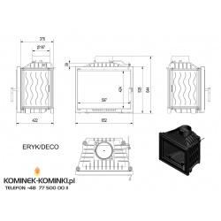 Wkład kominkowy KRATKI ERYK 12 kW DECO + blenda - kominek KRATKI