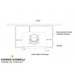Wkład kominkowy KRATKI LUCY 16 kW - kominek KRATKI
