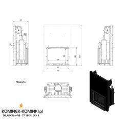 Wkład kominkowy KRATKI MAJA 12 kW gilotyna - kominek KRATKI