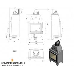 Wkład kominkowy KRATKI MBZ 13 kW - kominek KRATKI