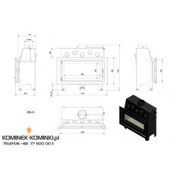 Wkład kominkowy KRATKI MILA 16 kW GLASS - kominek KRATKI