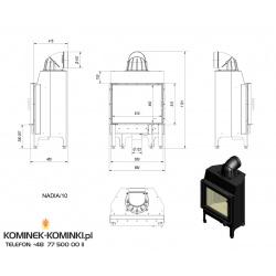 Wkład kominkowy KRATKI NADIA 10 kW - kominek KRATKI