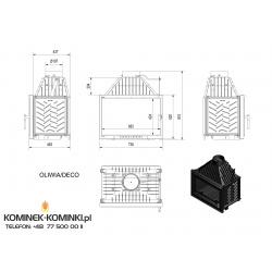 Wkład kominkowy KRATKI OLIWIA 18 kW DECO + blenda - kominek KRATKI