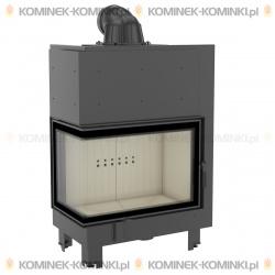 Wkład kominkowy KRATKI MBA 17 kW lewy BS (szyby łączone bez szprosa) - kominek KRATKI