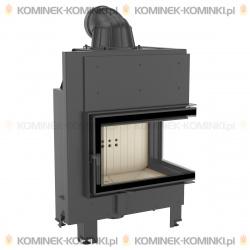 Wkład kominkowy KRATKI MBM 10 kW prawy BS (szyby łączone bez szprosa) - kominek KRATKI
