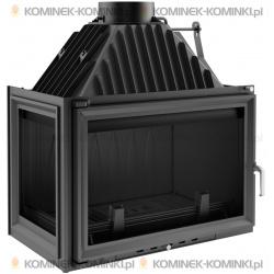 Wkład kominkowy KRATKI OLIWIA 18 kW lewy + dolot - kominek KRATKI