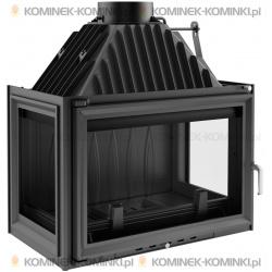 Wkład kominkowy KRATKI OLIWIA 18 kW lewy/prawy + dolot - kominek KRATKI
