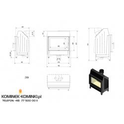 Wkład kominkowy KRATKI ZIBI 12 kW - kominek KRATKI