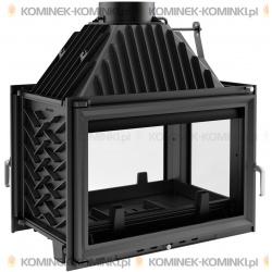 Wkład kominkowy KRATKI OLIWIA 18 kW prawy/tył - kominek KRATKI
