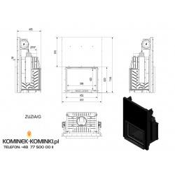 Wkład kominkowy KRATKI ZUZIA 16 kW gilotyna - kominek KRATKI