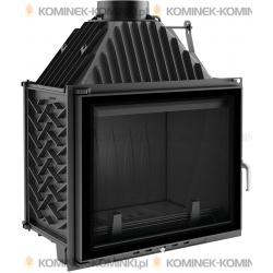 Wkład kominkowy KRATKI AMELIA 25 kW GLASS + dolot - kominek KRATKI